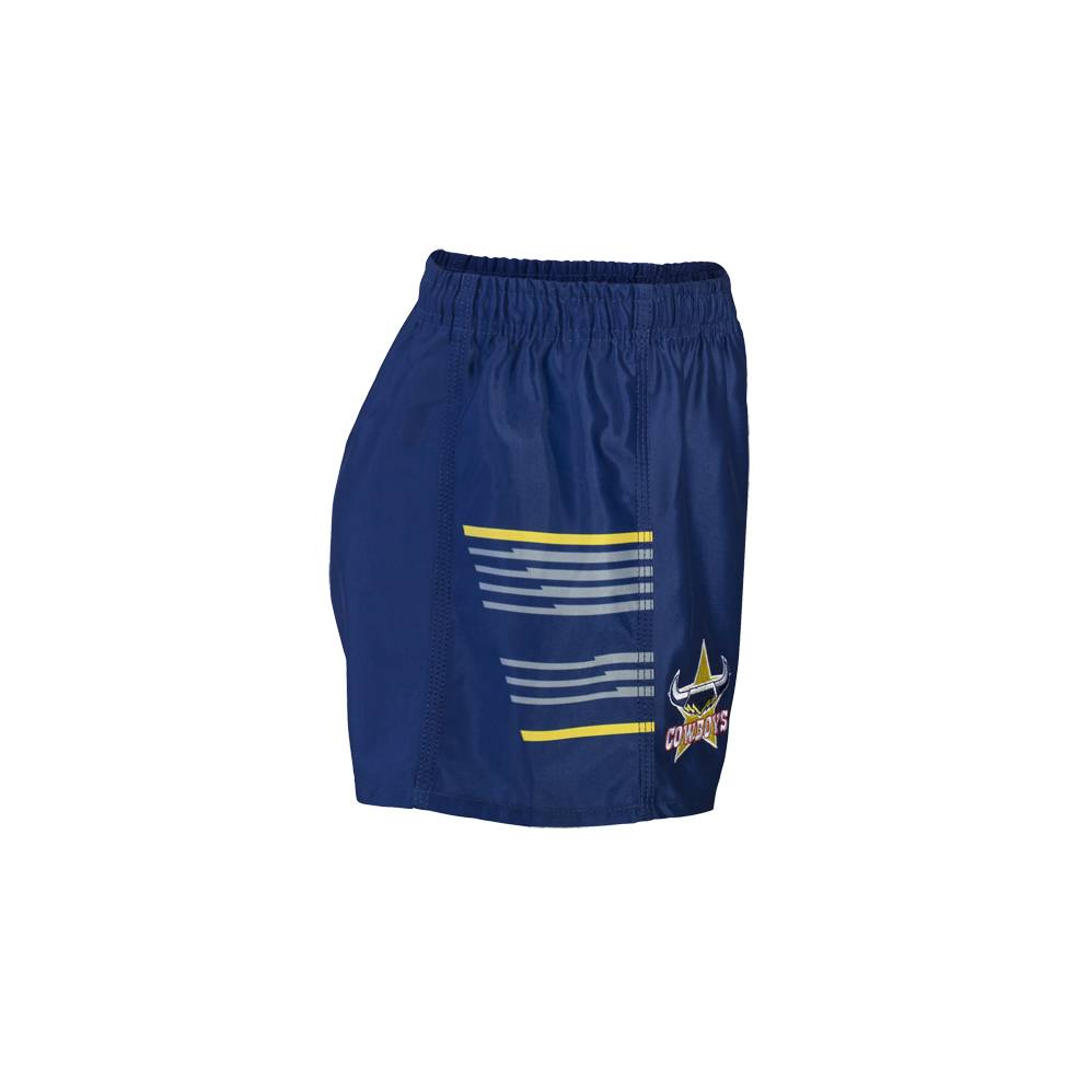 COWBOYS HOME NRL YOUTH SUPPORTER SHORTS1