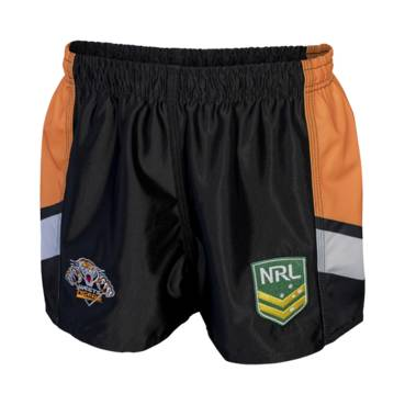 WESTS TIGERS HOME NRL YOUTH SUPPORTER SHORTS