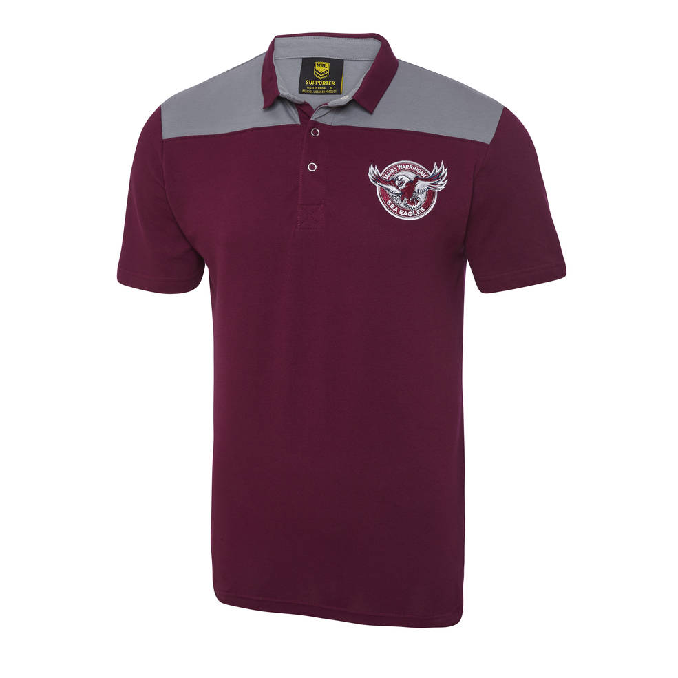 MANLY SEA EAGLES MENS KNITTED POLO0