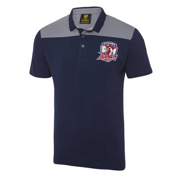 SYDNEY ROOSTERS MENS KNITTED POLO