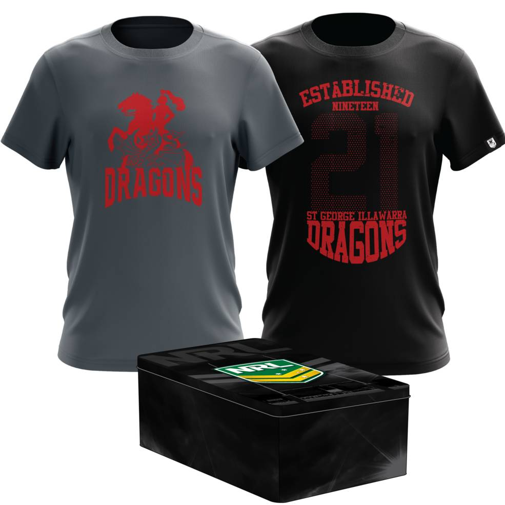 ST GEORGE DRAGONS MENS TWIN TEE PACK TIN0