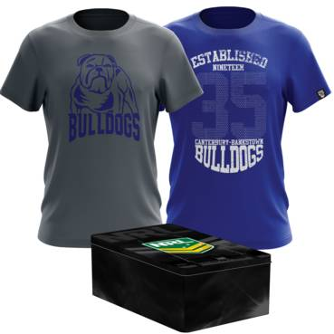 CANTERBURY BULLDOGS MENS TWIN TEE PACK TIN