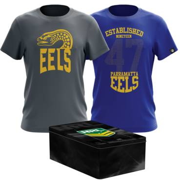 PARRAMATTA EELS  MENS TWIN TEE PACK TIN