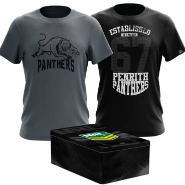 PENRITH PANTHERS MENS TWIN TEE PACK TIN