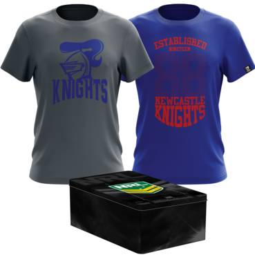 NEWCASTLE KNIGHT MENS TWIN TEE PACK TIN