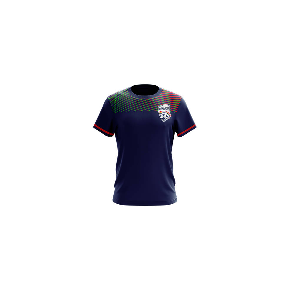 ADELAIDE UNITED MENS GEO SQUAD TRAINING TEE0