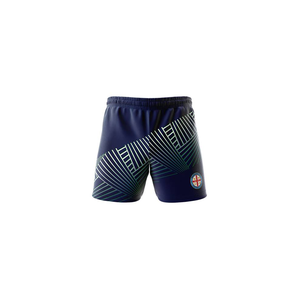 MELBOURNE CITY MENS GEO SQUAD TRAINING  SHORTS0