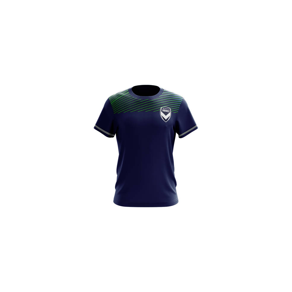 MELBOURNE VICTORY MENS GEO SQUAD TRAINING TEE0