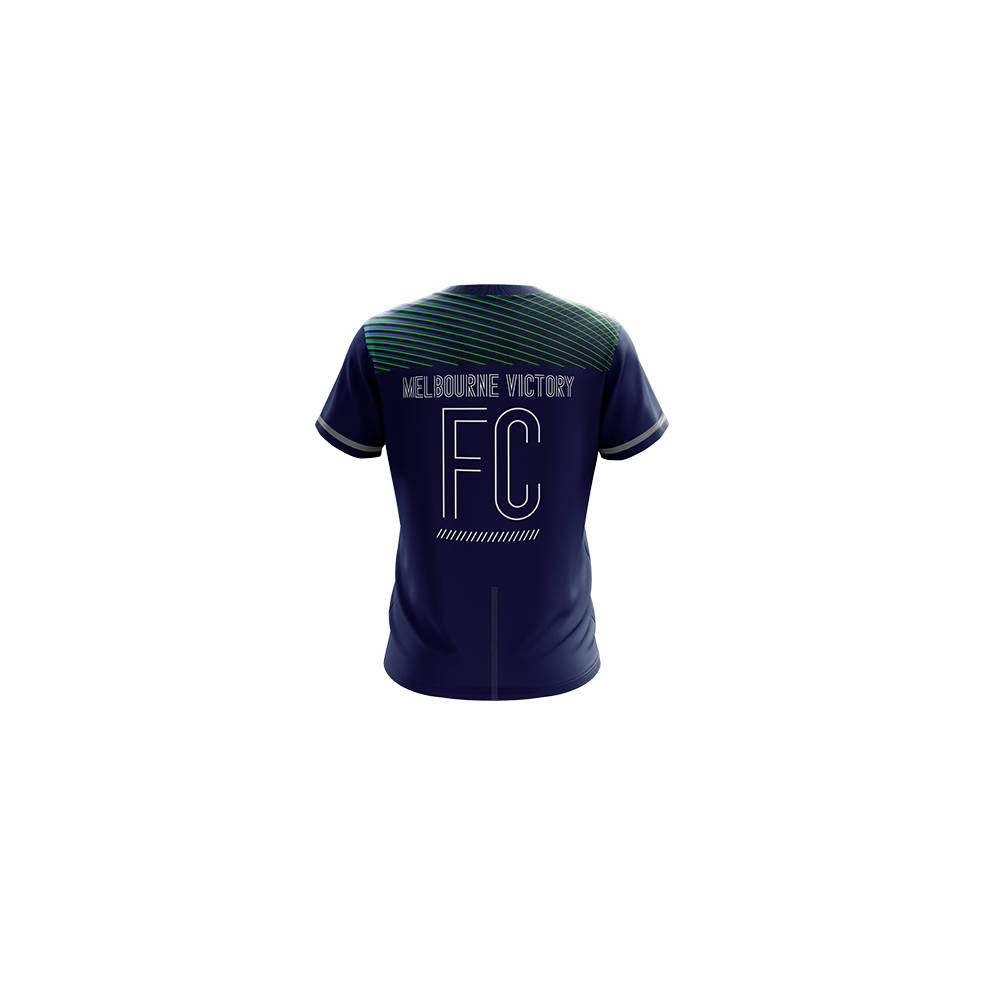 MELBOURNE VICTORY MENS GEO SQUAD TRAINING TEE1