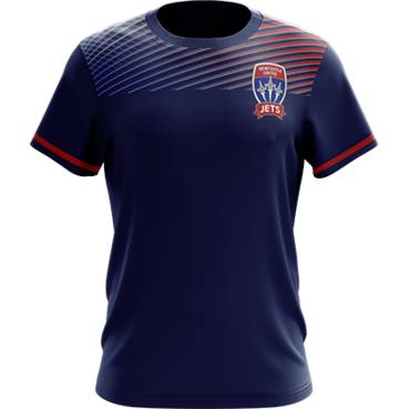 NEWCASTLE JETS MENS GEO SQUAD TRAINING TEE