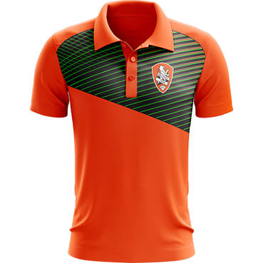 BRISBANE ROAR MENS GEO STRIKE POLO