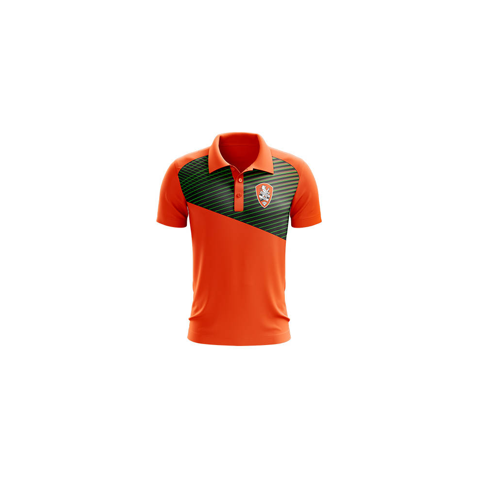 BRISBANE ROAR MENS GEO STRIKE POLO0