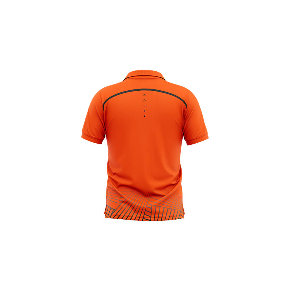 BRISBANE ROAR MENS GEO STRIKE POLO1