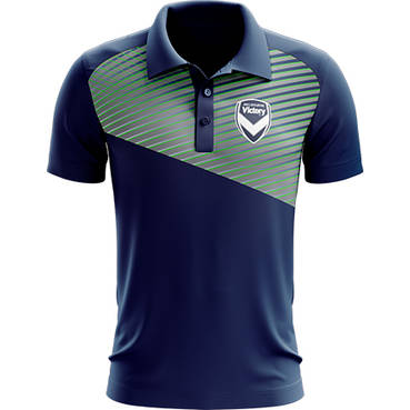 MELBOURNE VICTORY MENS GEO STRIKE POLO