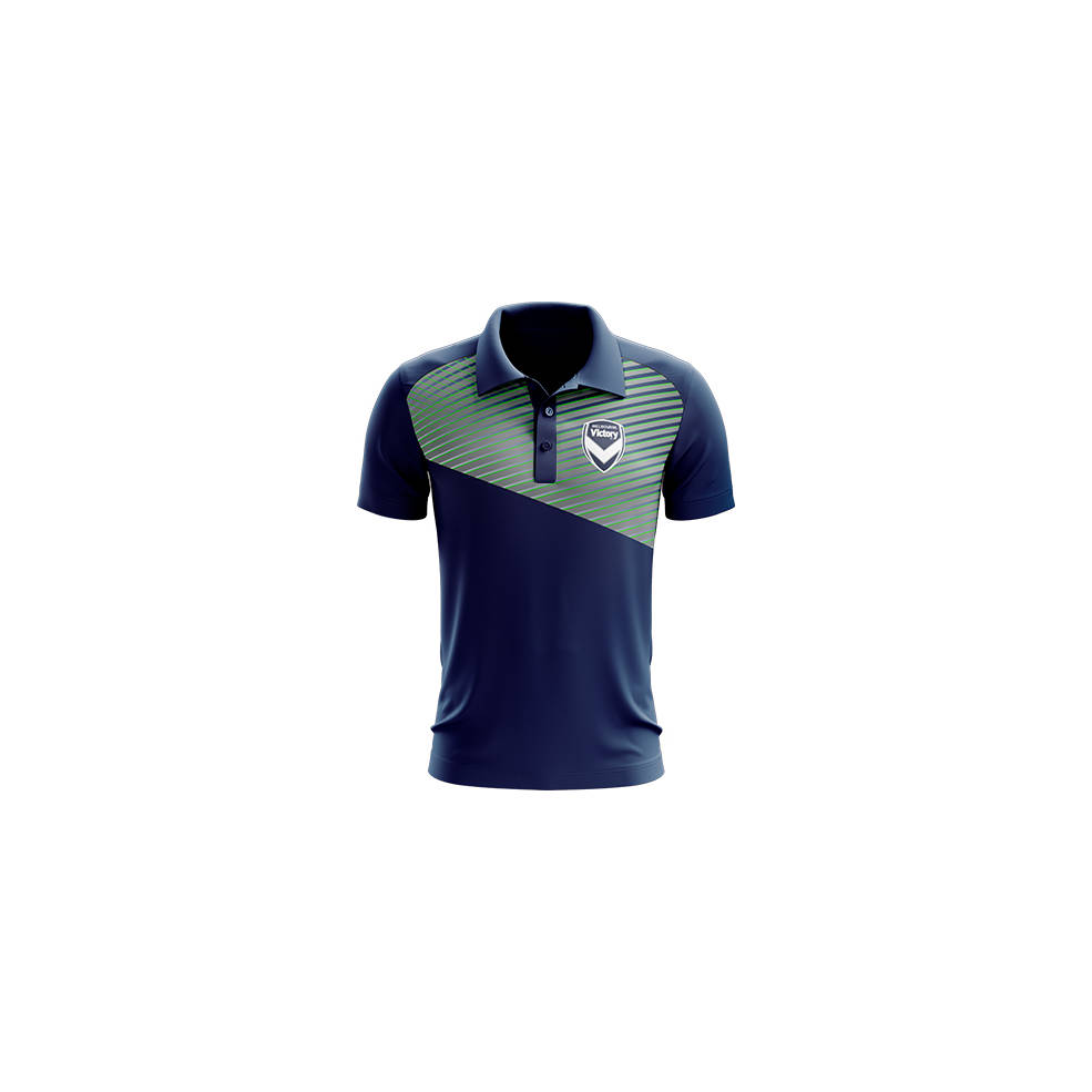 MELBOURNE VICTORY MENS GEO STRIKE POLO0