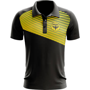 WELLINGTON PHOENIX MENS GEO STRIKE POLO