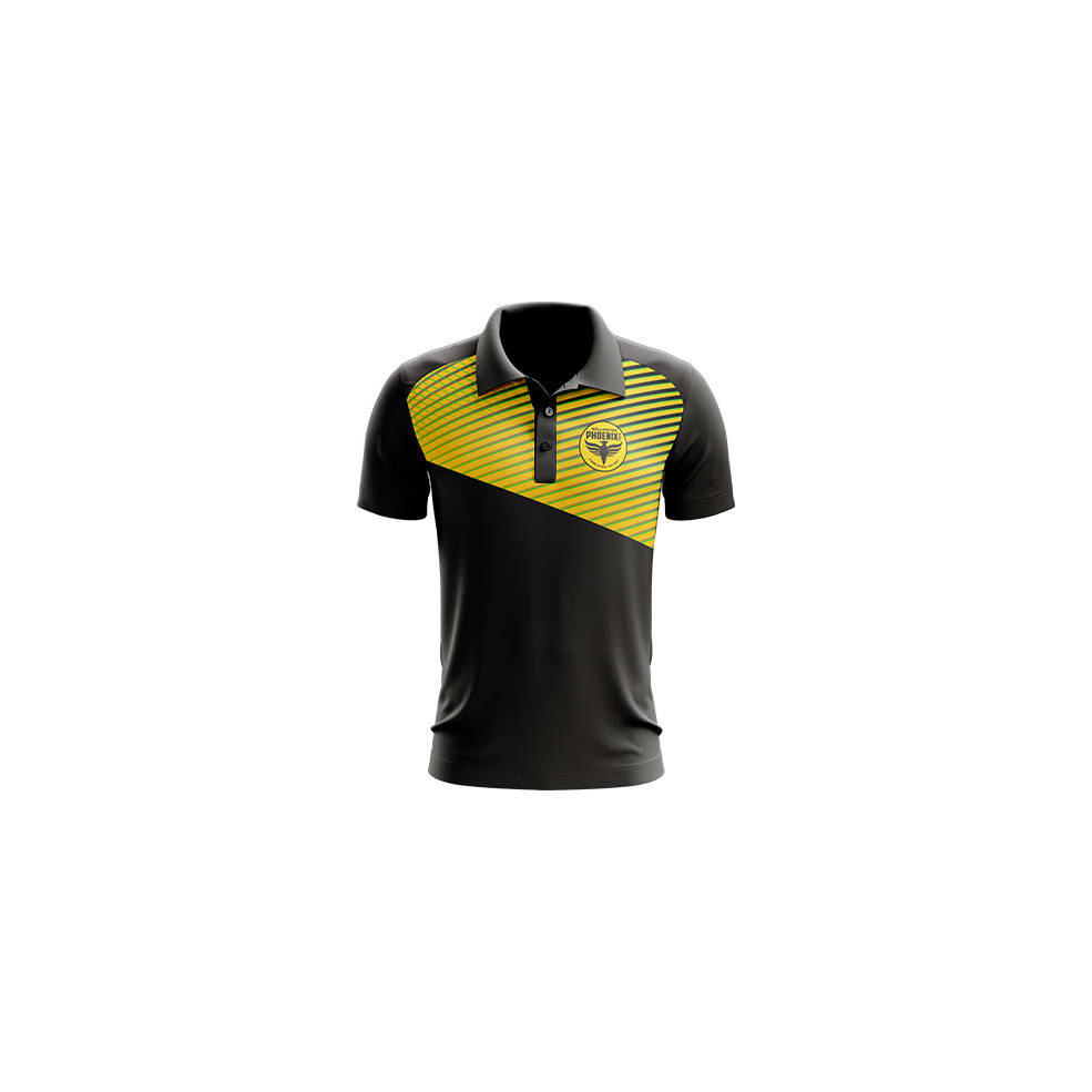 WELLINGTON PHOENIX MENS GEO STRIKE POLO0