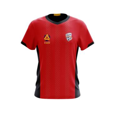 ADELAIDE UNITED MENS GEO SQUAD TRAINING TEE