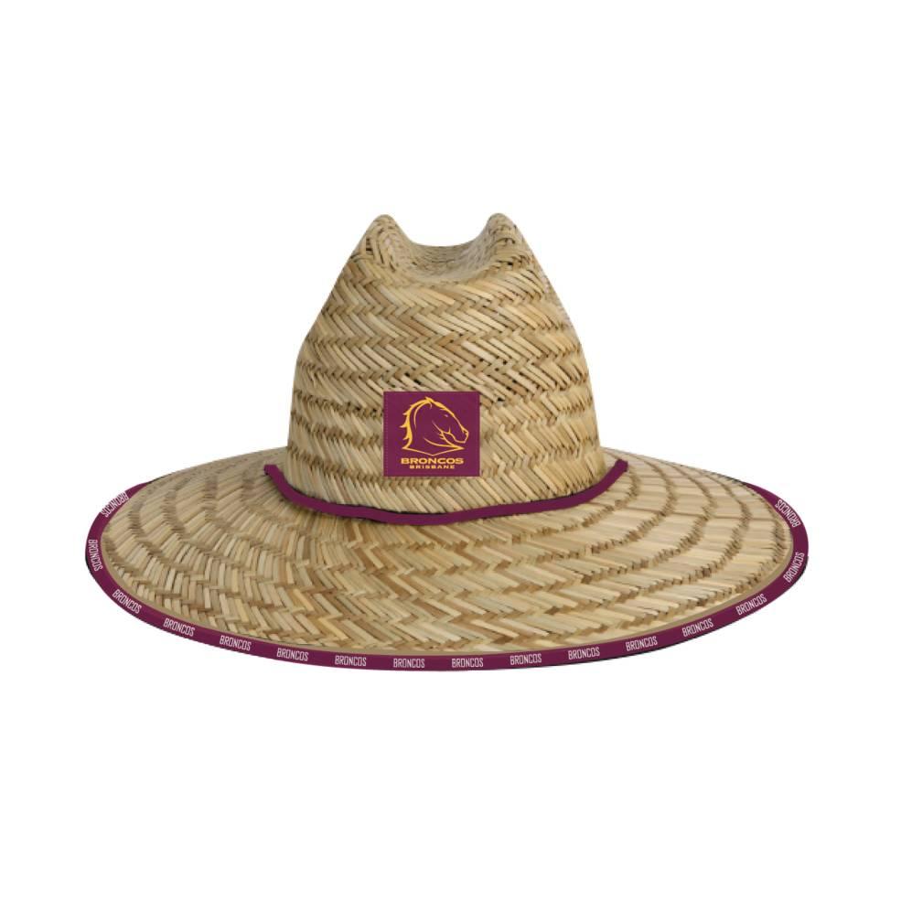 BRISBANE BRONCOS STRAW HATS0