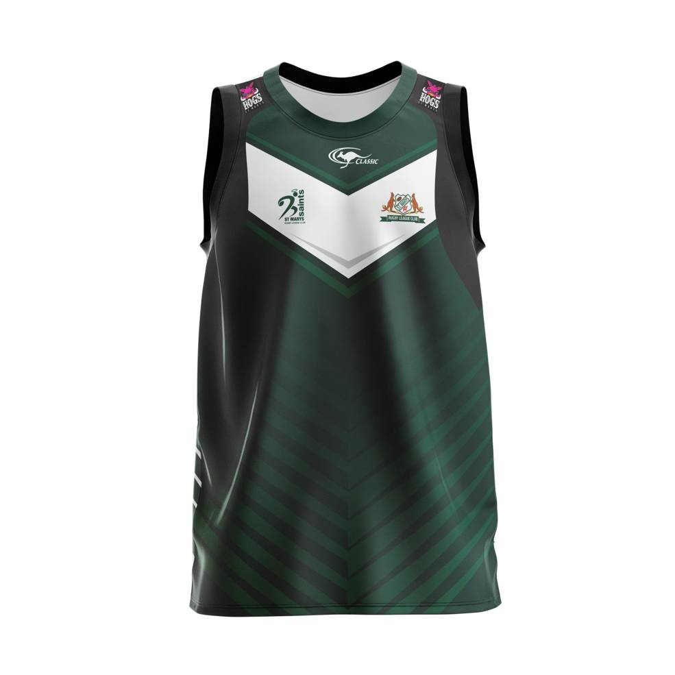 ST MARYS SAINTS TRAINING SINGLET0