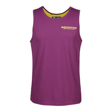BRISBANE BRONCOS MENS PERFORMANCE SINGLET