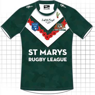PRE SALE: ST MARYS SAINTS ANZAC JERSEY 19
