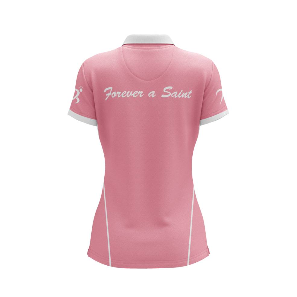 ST MARYS SAINTS WOMENS PINK POLO1