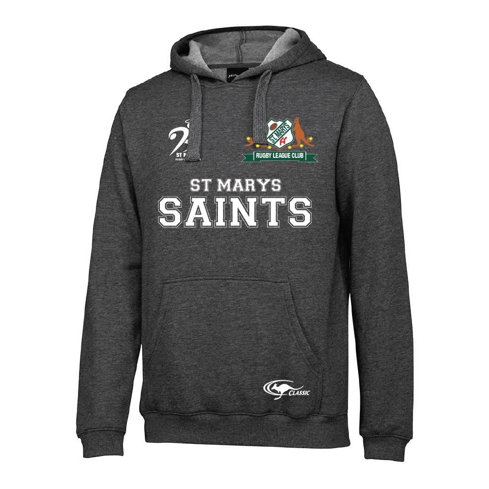 ST MARYS SAINTS GREY HOODIE0