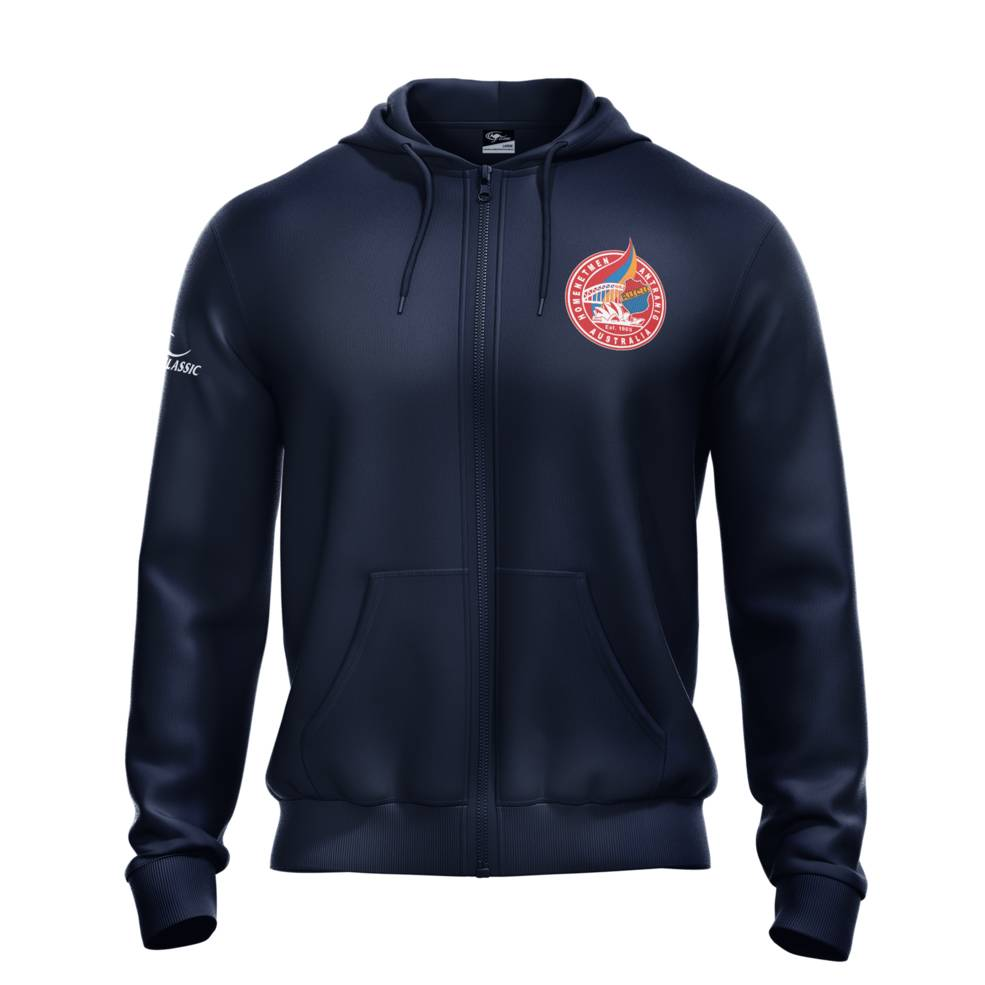 HOMENETMEN NAVY ZIP UP HOODIE0