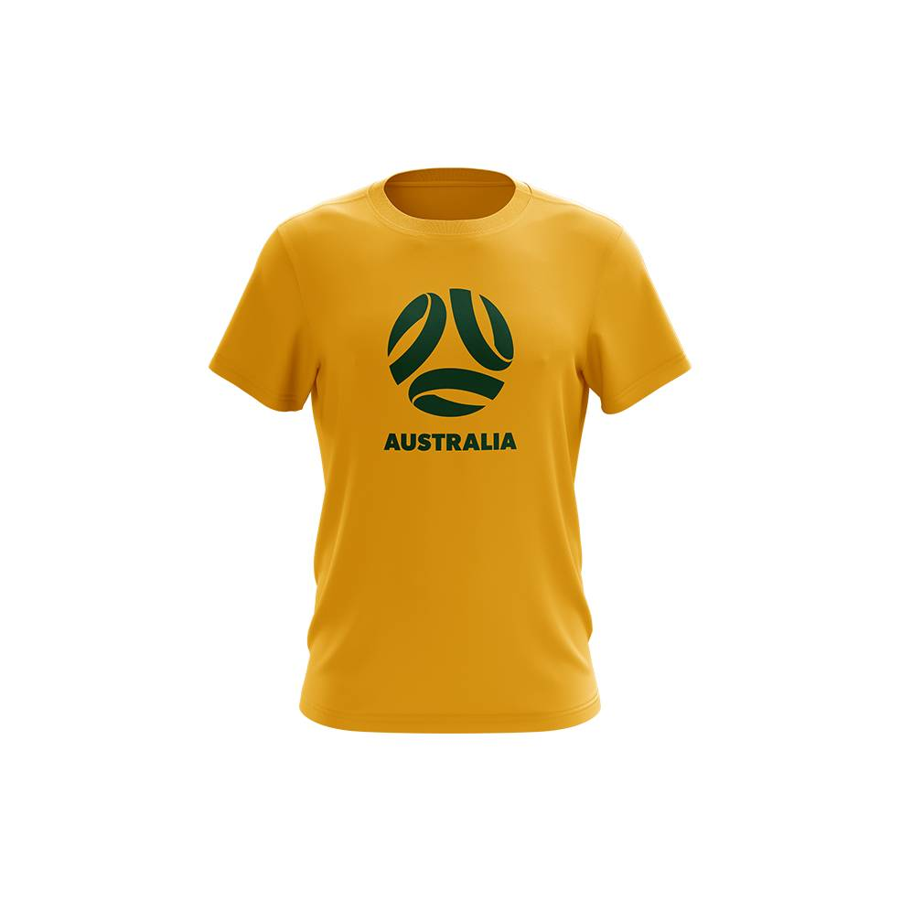 YOUTH SOCCEROOS LOGO COTTON TEE0