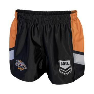 WESTS TIGERS NRL YOUTH MENS SUPPORTER SHORTS