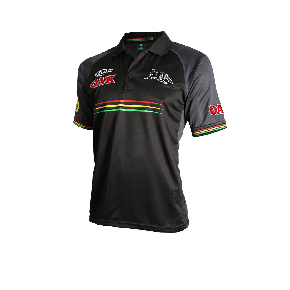 PENRITH PANTHERS MENS MEDIA POLO0