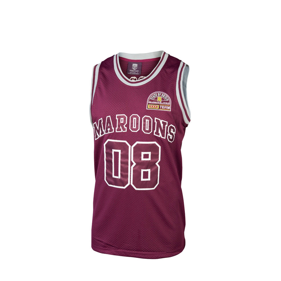 QLD HERITAGE YOUTH BASKETBALL SINGLET0