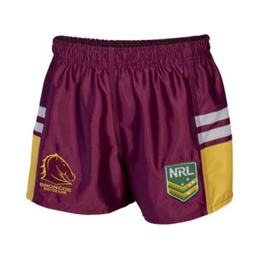 BRONCOS NRL YOUTH SUPPORTER SHORTS