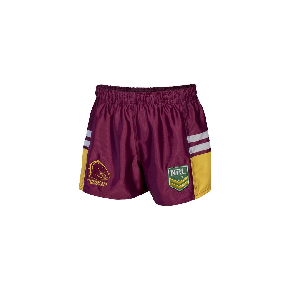 BRONCOS NRL YOUTH SUPPORTER SHORTS0