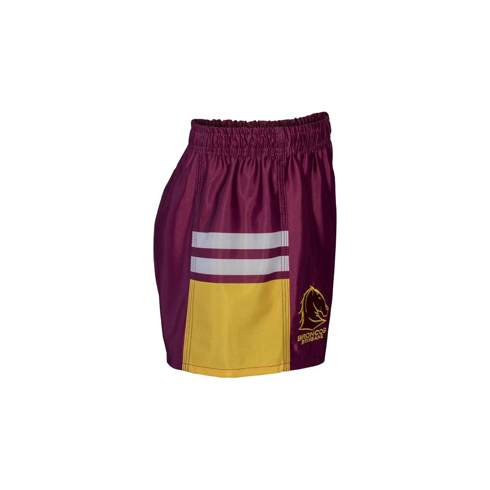 BRONCOS NRL YOUTH SUPPORTER SHORTS1
